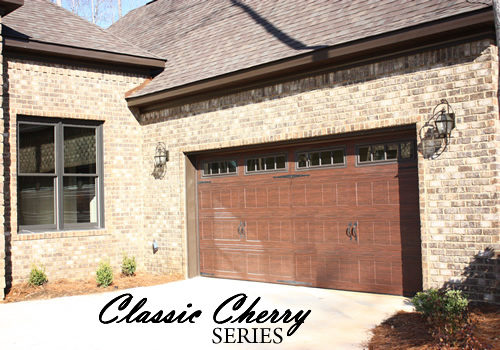 Classic Cherry Residential Garage Doors
